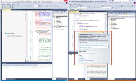 design application visual studio visual studio 2013 and blend design time exception