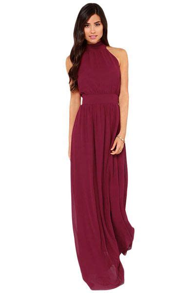 wine colored maxi dress 25 best ideas about burgundy maxi dress on