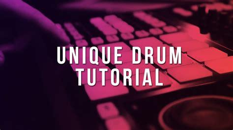 Youtube Drum Tutorial | unique drum tutorial fl studio tutorial youtube