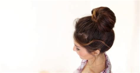 2 minute hairstyles for medium length hair 2 minute bubble bun hairstyle easy hairstyles for medium