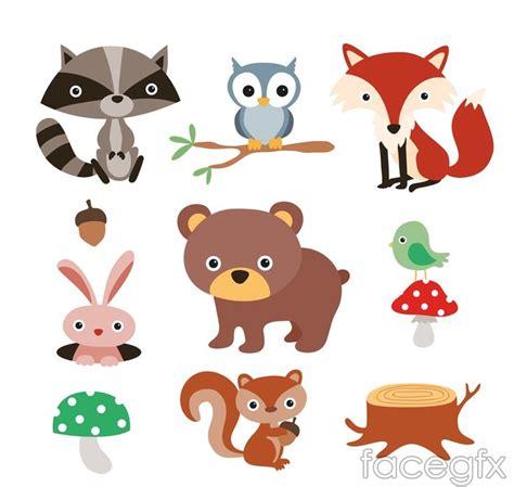 Free Cricut Craft Room Files - 9 forest cartoon animals vector animaci 243 n y cartoon vector pinterest cartoon animal and owl