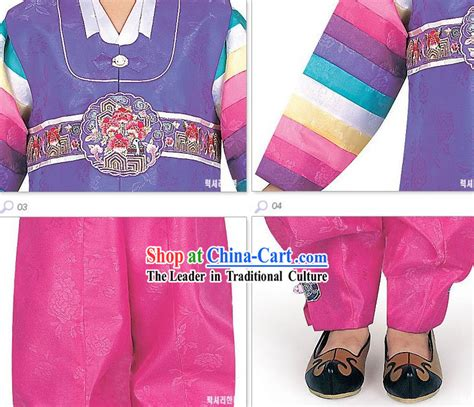 954 Brukat Korean Set Cloth korean hanbok clothing set for boys