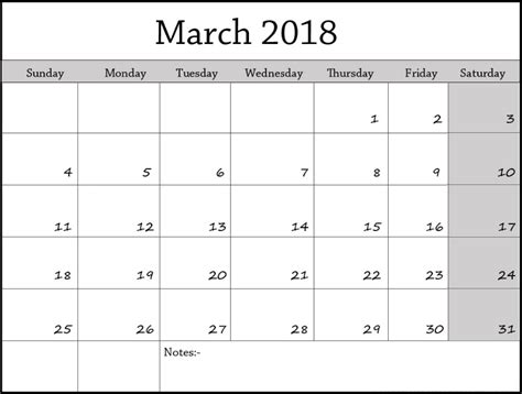 March 2018 Calendar Editable Calendar Template Letter Format Printable Holidays Usa Uk Pdf Edit Calendar Template 2018