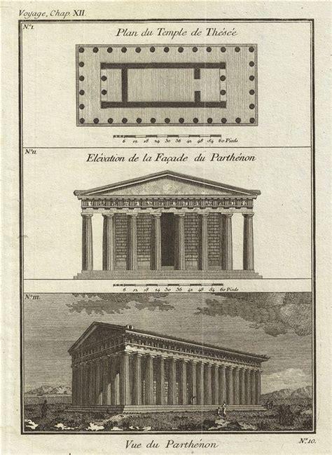 Floor Plan Of Parthenon plan du temple de thesee elevation de la fa 231 ade du