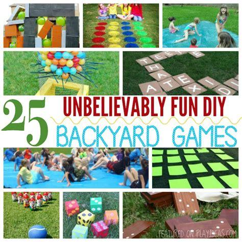 unbelievably fun diy backyard games  kids
