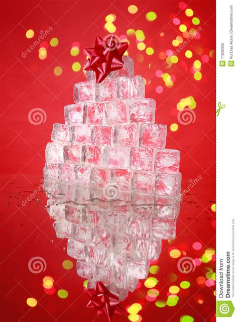 ice cube christmas tree cube tree stock photo image 11636330