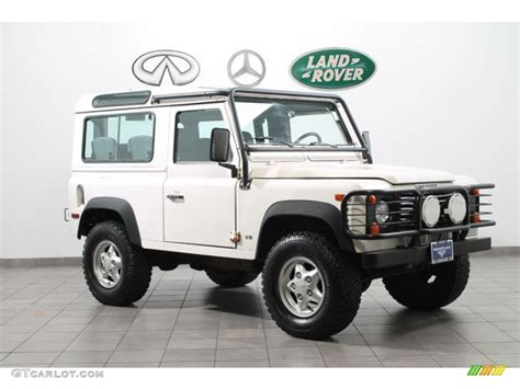 land rover defender white alpine white 1997 land rover defender 90 hard top exterior