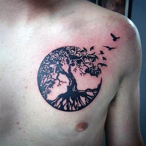 tree of life tattoo for men tree of with birds pictures to pin on