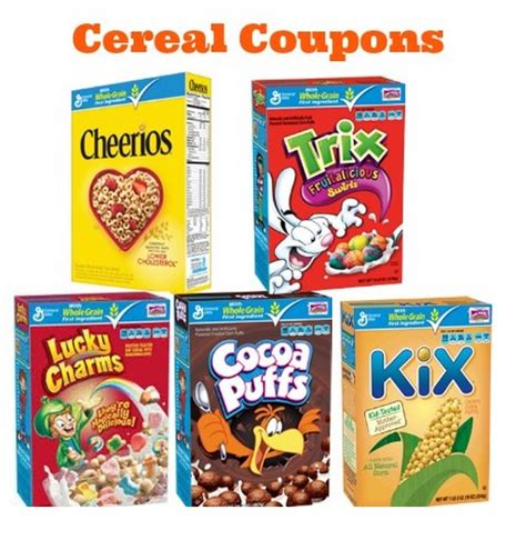 cereal coupons cocoa puffs lucky charms and more