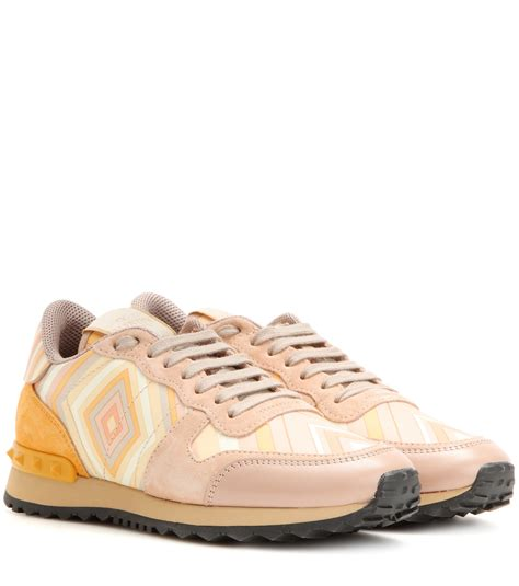 valentino sneakers valentino rockrunner couture leather low top