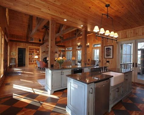 6 gorgeous open floor plan rustic open floor house plans rustic open kitchen floor plan cabin fever