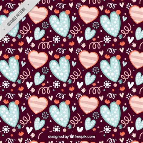 vintage heart pattern vintage hearts pattern vector free download