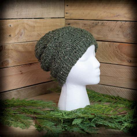 loom knit mens hat loom knit s hat pattern pinecone stitch ski cap
