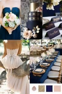 wedding theme navy gold antique blush vintage