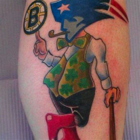 boston sports tattoo the best a bostonian could get the sox