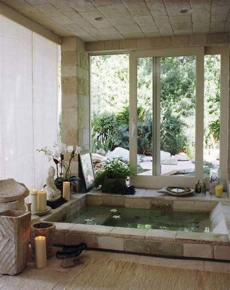 baignoire dans le sol baignoire incrust 233 e dans le sol avec vue
