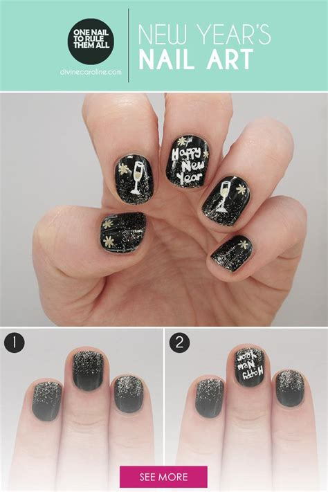 nail art tutorial websites a tutorial to toast fun nail art for the new year more com
