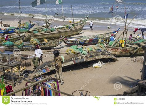 poor boat poor african fishing boats editorial image image 44904230
