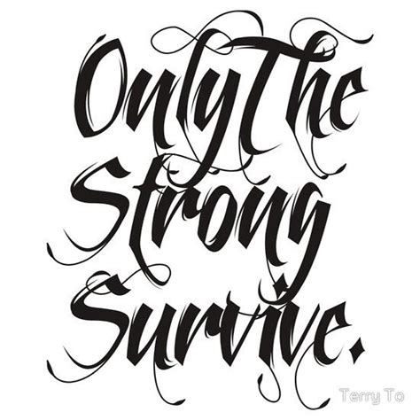 only the strong survive tattoo design only the strong survive sticker