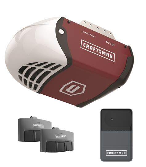 craftsman garage door opener craftsman 1 2 hp chain drive garage door opener