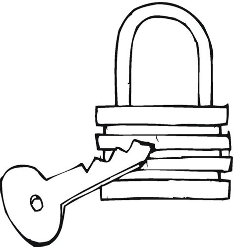 Coloring Page Lock And Key | best photos of lock coloring page lock and key coloring