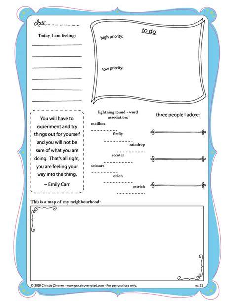 art journal printable pages ideas journal template literacy pinterest journal