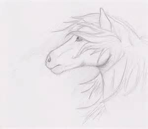 Horse sketch by nanabuns on deviantart