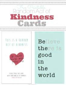 Random Act Of Kindness Printable Cards » Home Design 2017