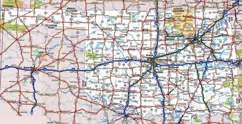road map state oklahoma road map