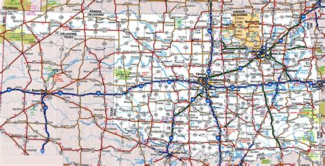roadmap of oklahoma oklahoma road map
