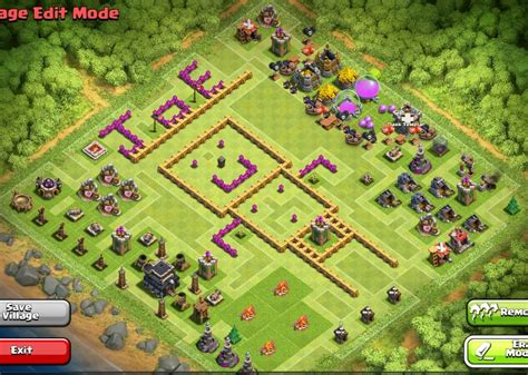 fungsi layout editor di coc 16 best images about clash of clans bases on pinterest