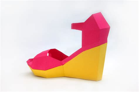 Papercraft Shoes - diy high heel shoe 3d papercraft by paper amaze