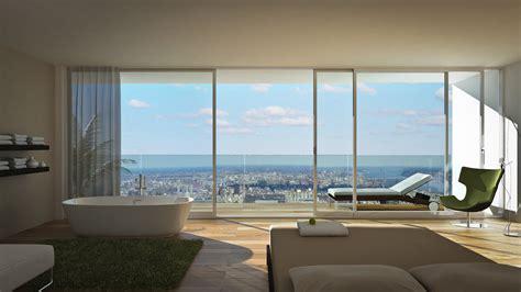 software architettura interni esempio rendering interno ed esterno con vista city