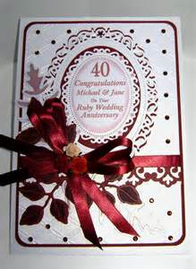 and 40th ruby anniversary cards wedding anniversary