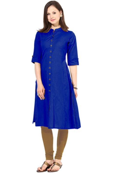new blue color buy new blue color home wear cotton kurti