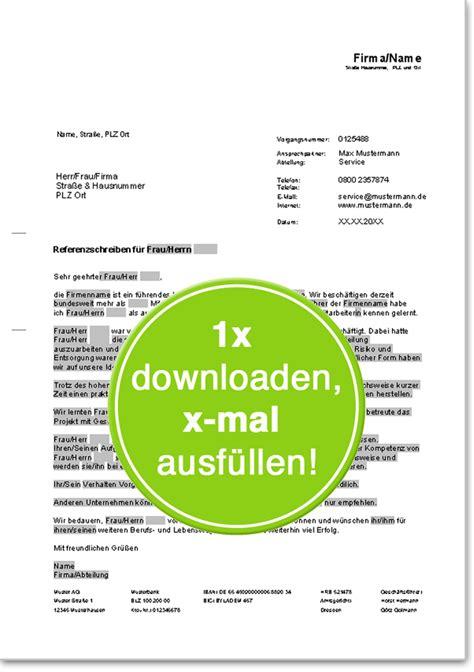 Musterbriefe Korrespondenz Referenzschreiben F 252 R Freie Mitarbeiter