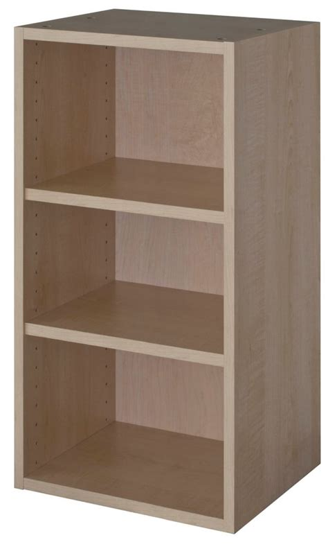 eurostyle wall cabinet 18 x 30 1 4 maple the home depot