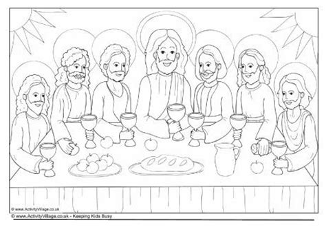 coloring page last supper top 25 ideas about easter activities for on