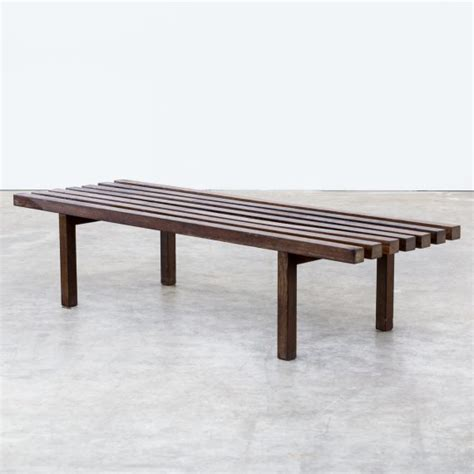 museum bench 60s weng 233 slatted bench museum bench barbmama