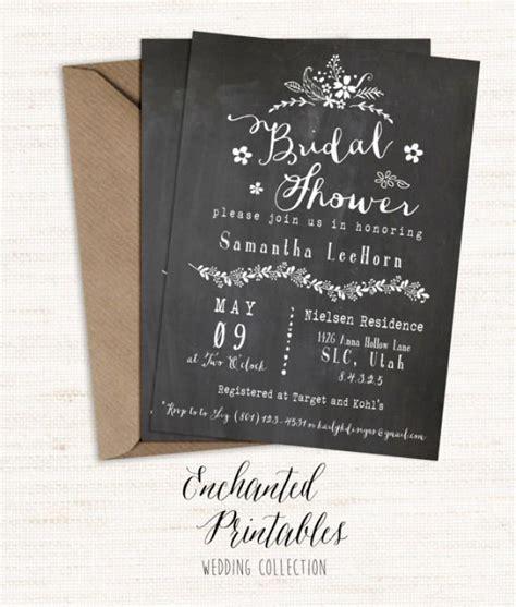 chalkboard bridal shower invitations chalkboard bridal shower invitation printable bridal shower invite rustic invitation bridal