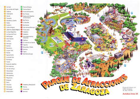 theme park zaragoza parque de atracciones de zaragoza 2007 park map