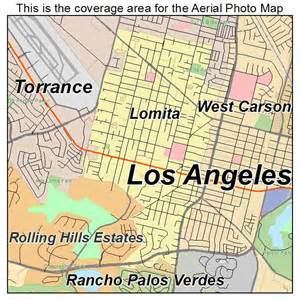 aerial photography map of lomita ca california