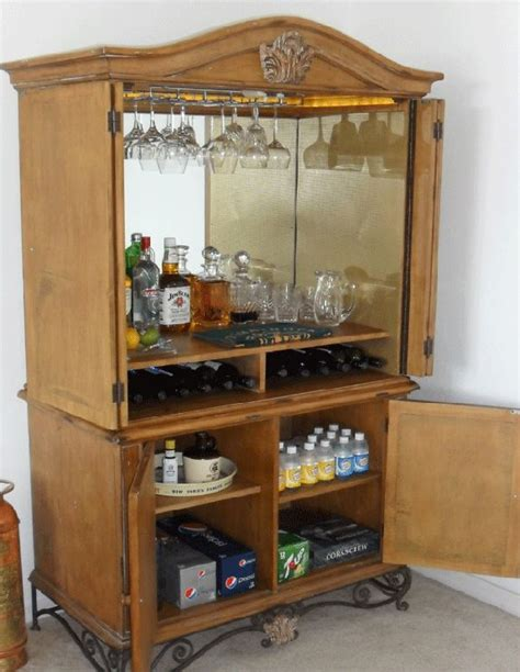 armoire bar armoire turned into a bar beach condo pinterest