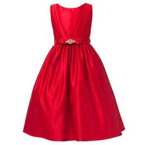 Kids red satin rhinestone sash christmas dress girls 2t 12 sweet kids