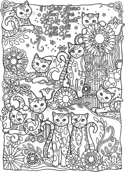 kitten coloring pages for adults coloring page world