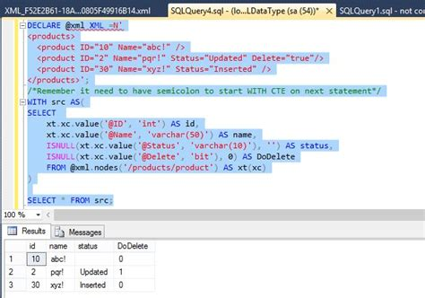 Sql Server Common Table Expression by Implementing Xml In Sql Server
