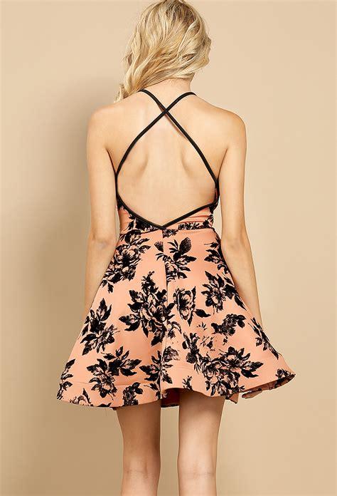 Id 1838 Flower Dress a line velvet floral dress shop dresses at papaya clothing