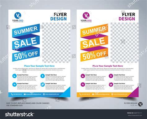 leaflet design size flyer design template vector leaflet design stock vector