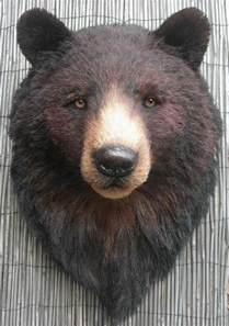 Home Interiors And Gifts Company Hand Made Black Bear Head By Anne Andersson Art Studio