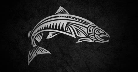 tribal trout tattoo 1000 ideas about salmon on haida